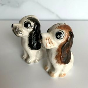 Vintage Dog Salt & Pepper Shakers Cocker Spaniels